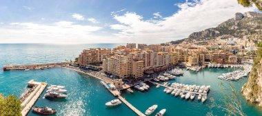 Monaco Fontvieille cityscape in Monte carlo French Riviera