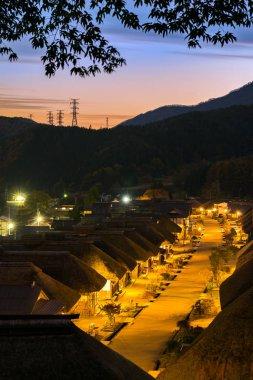 Sunset  at Ouchujuku Village Fukushima, Japan