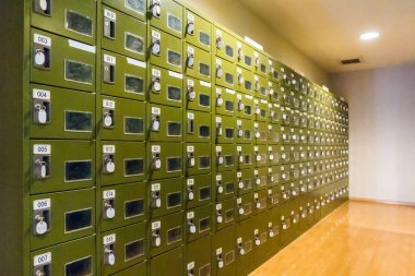close-up photo of Lockers in Changing Room