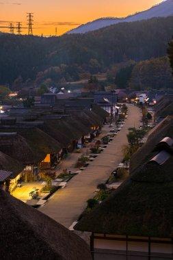 Ouchujuku ancient post Village in Fukushima, Japan