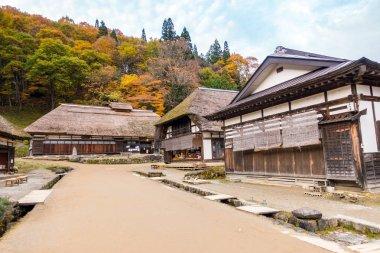 Ouchujuku ancient Village in Japan at autumn