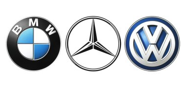 Collection of popular German car logos