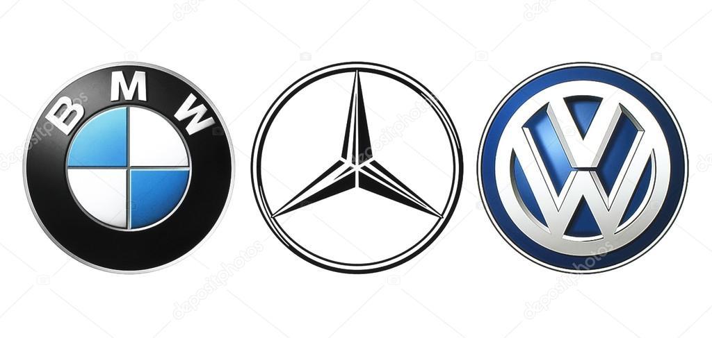 Collectie Van Populaire Duitse Auto Logo S Redactionele Stockfoto