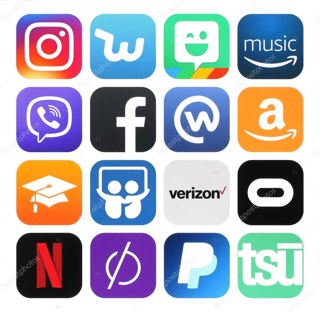 bf1ff1db4c735 Colección de populares redes sociales