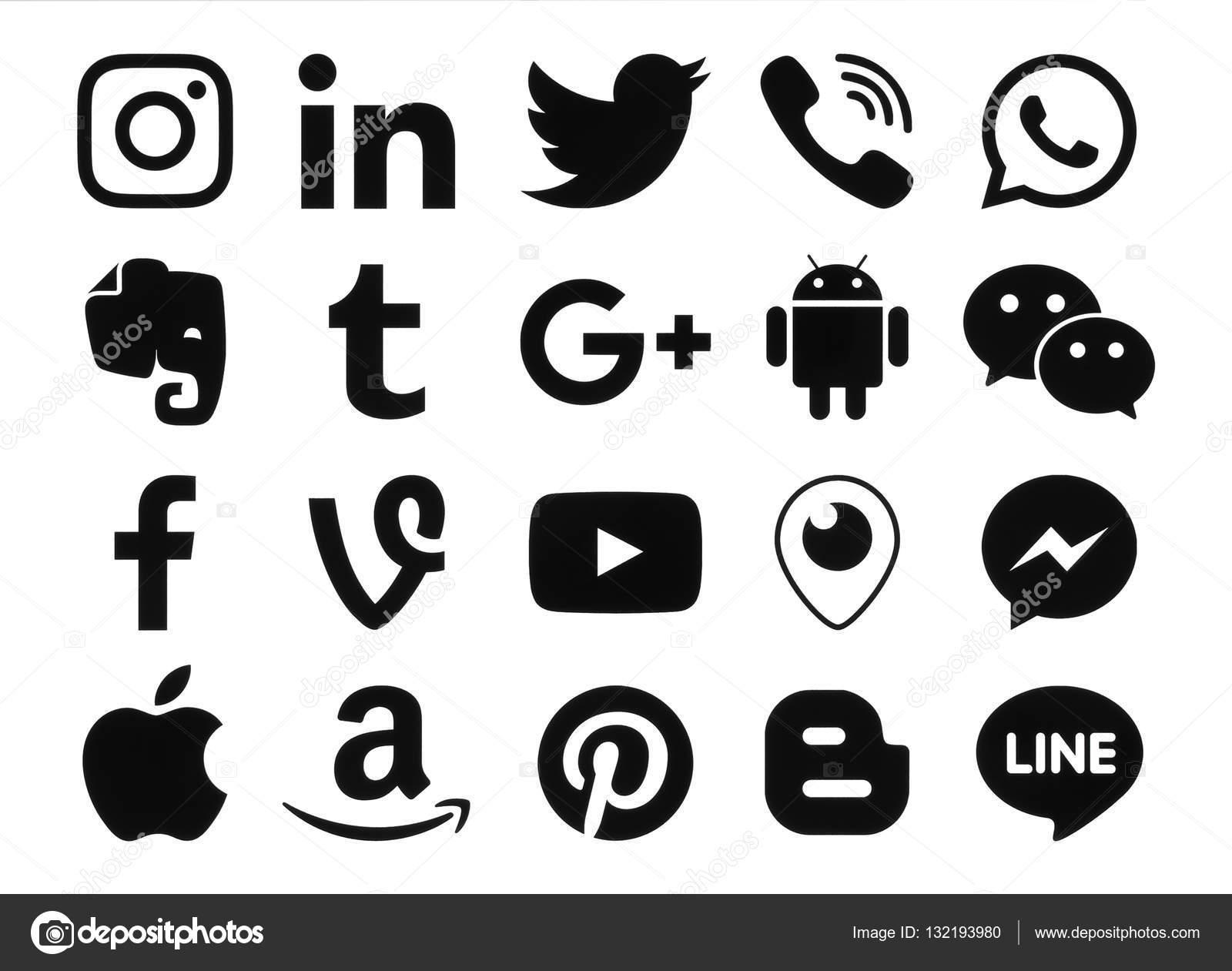 Coleccin de iconos de redes sociales negra popular foto coleccin de iconos de redes sociales negra popular foto de stock biocorpaavc