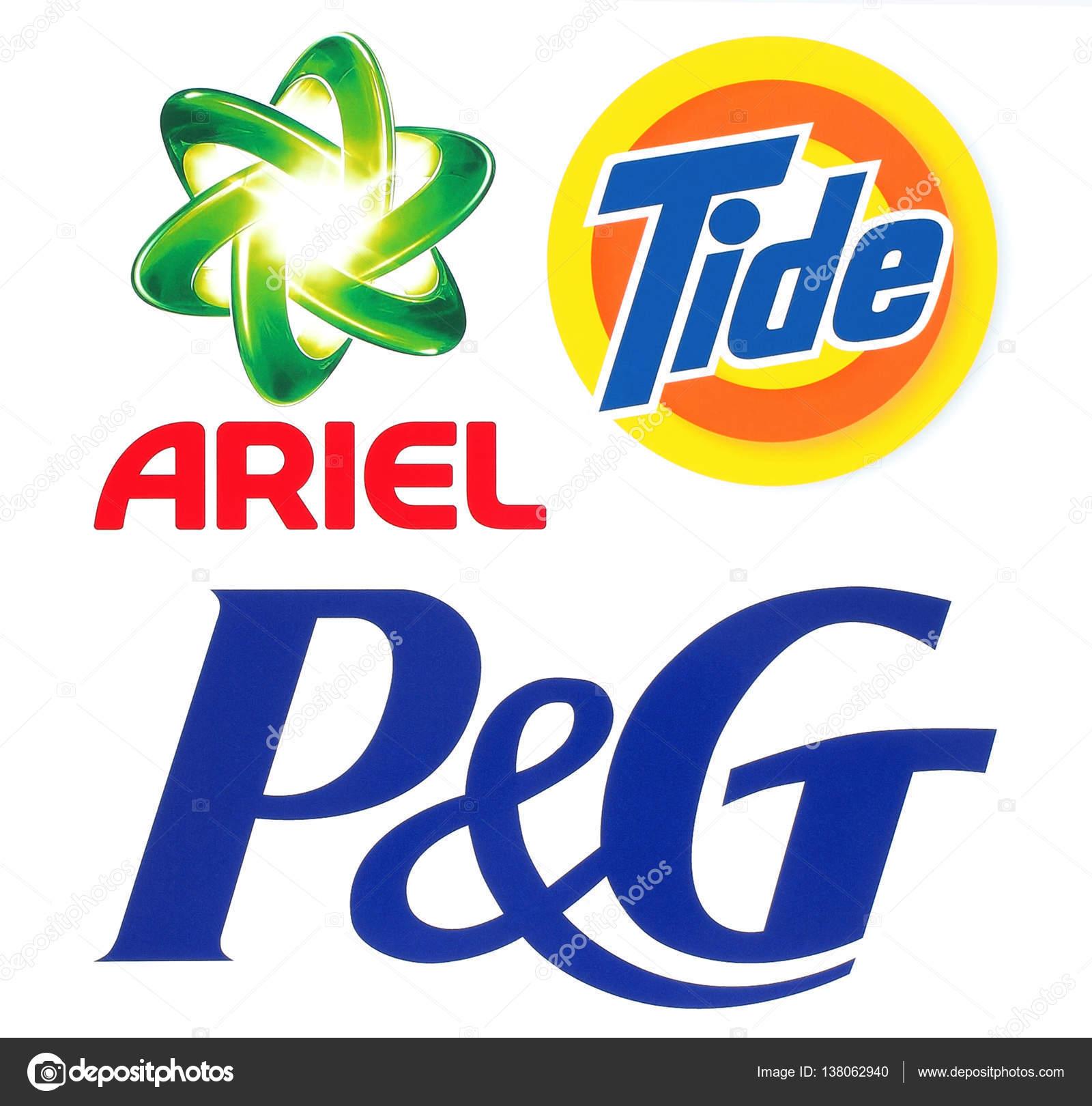 4b465cd263 Gyűjteménye népszerű márkák logók: Procter & hazárdjáték, Ariel és–  Editorial Stock Fényképészet