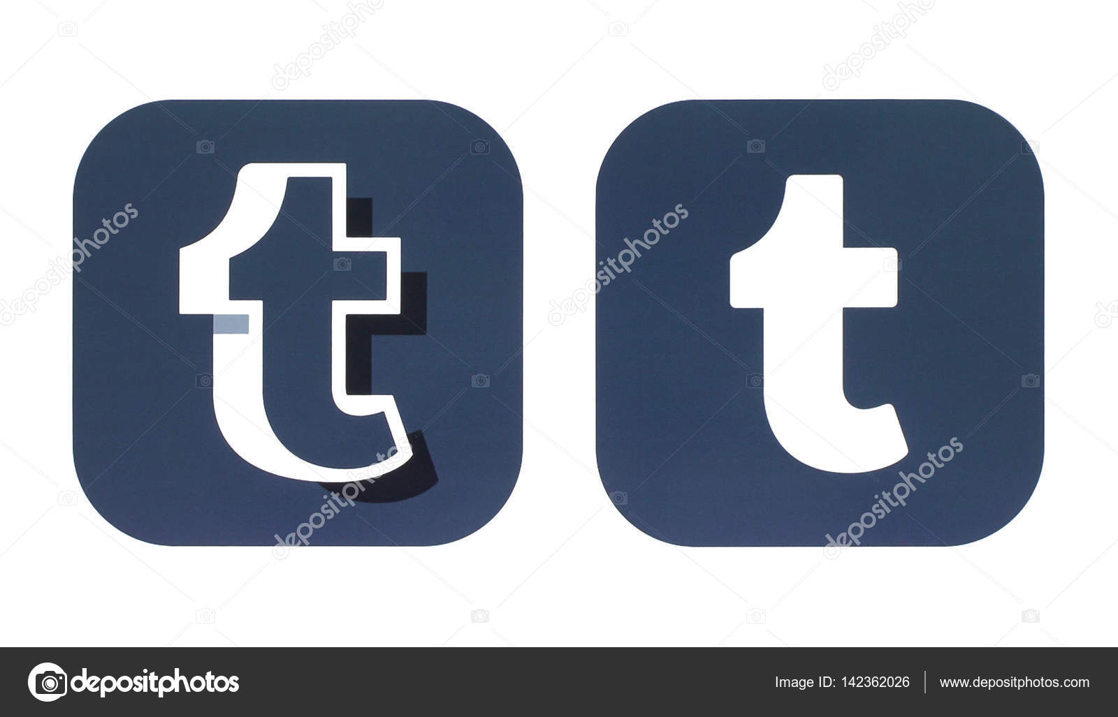 Collection Of A New Tumblr Logos Stock Photo