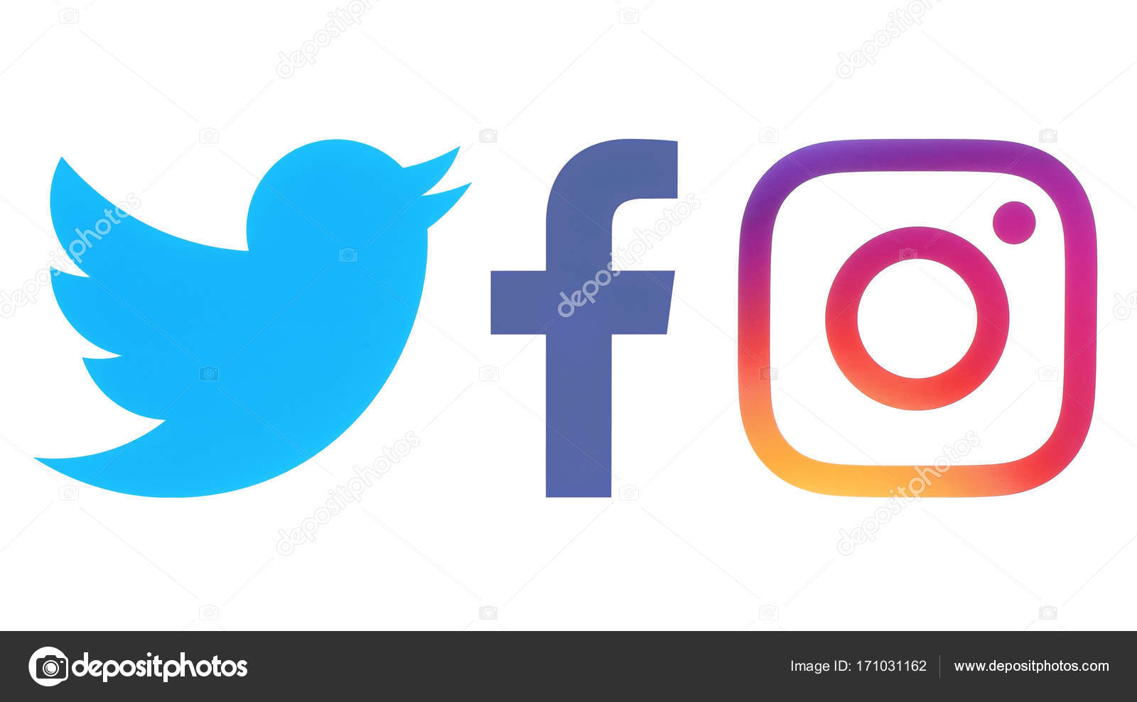 logos de facebook twitter y instagram � foto editorial de
