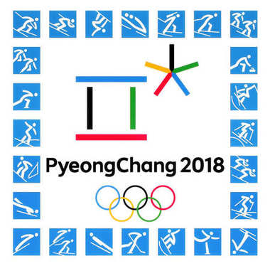 Official logos of the 2018 Winter Olympic Games
