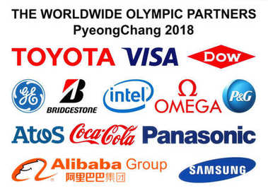 Partners logos of the 2018 Winter Olympic Games