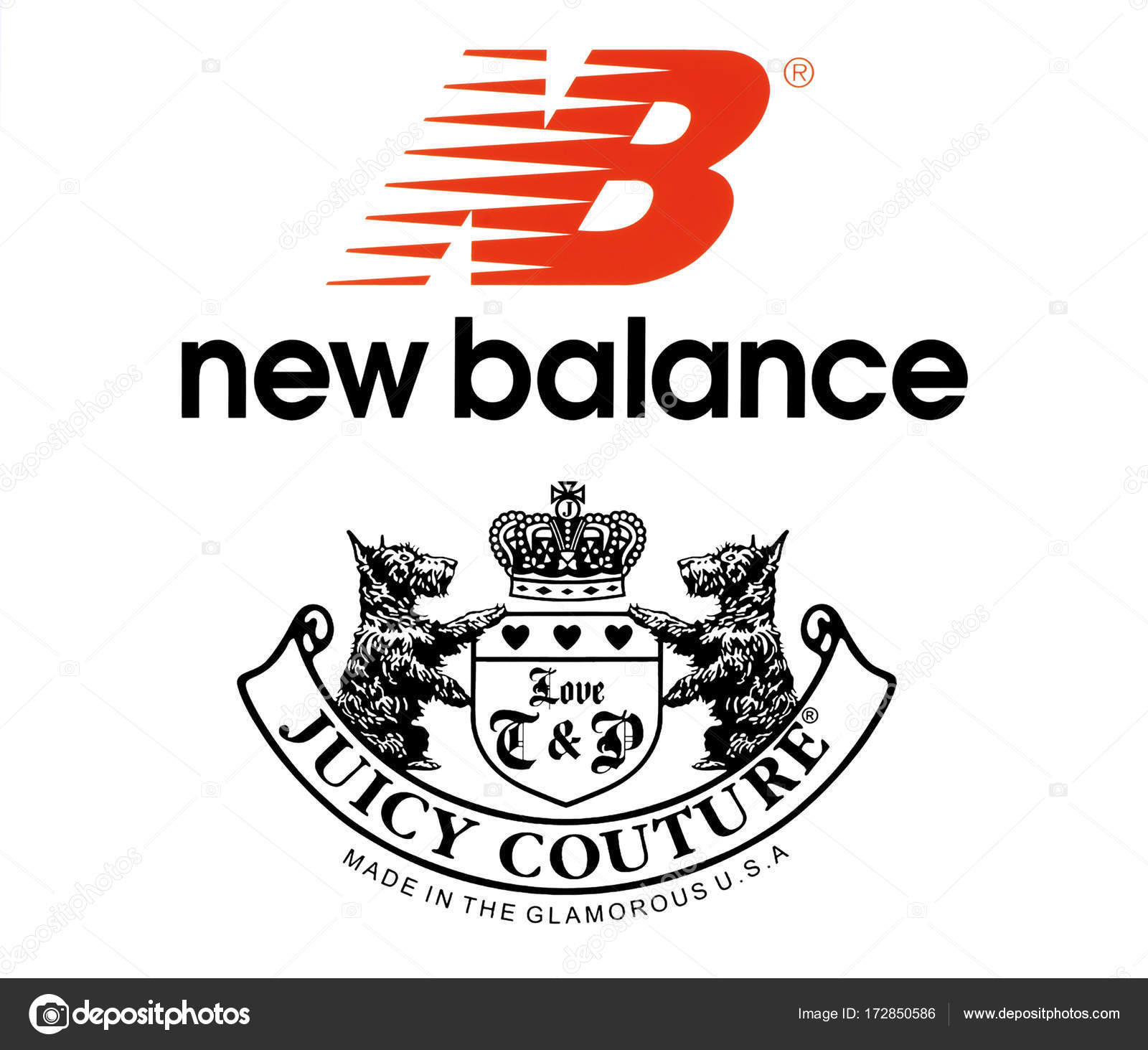 Collection Of Popular Sportswear Manufactures Logos Stock