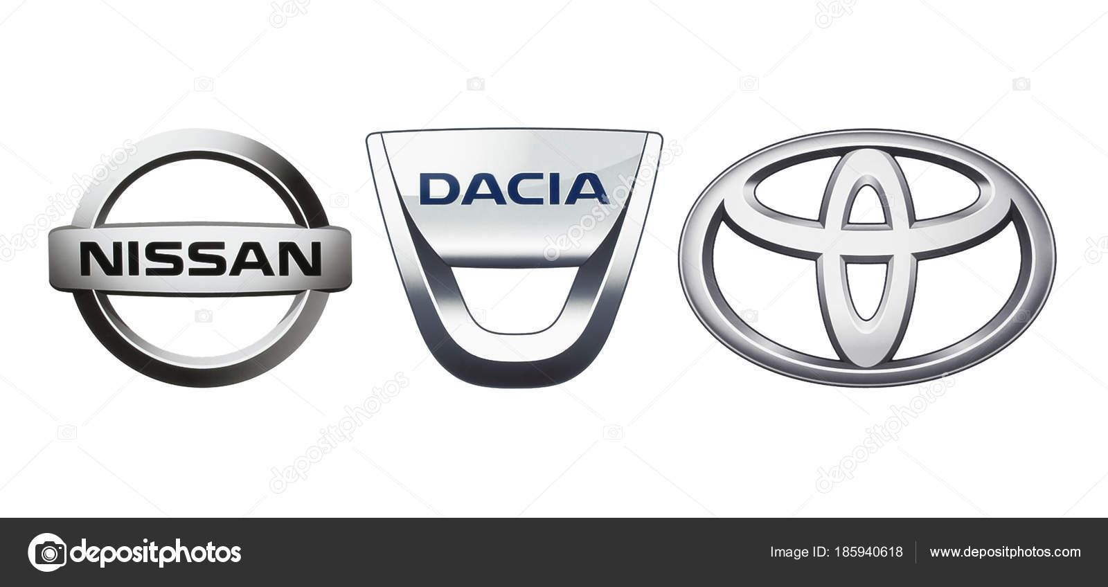 Collectie Van Populaire Auto Logo S Redactionele Stockfoto