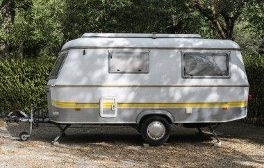 Small caravan on campsite