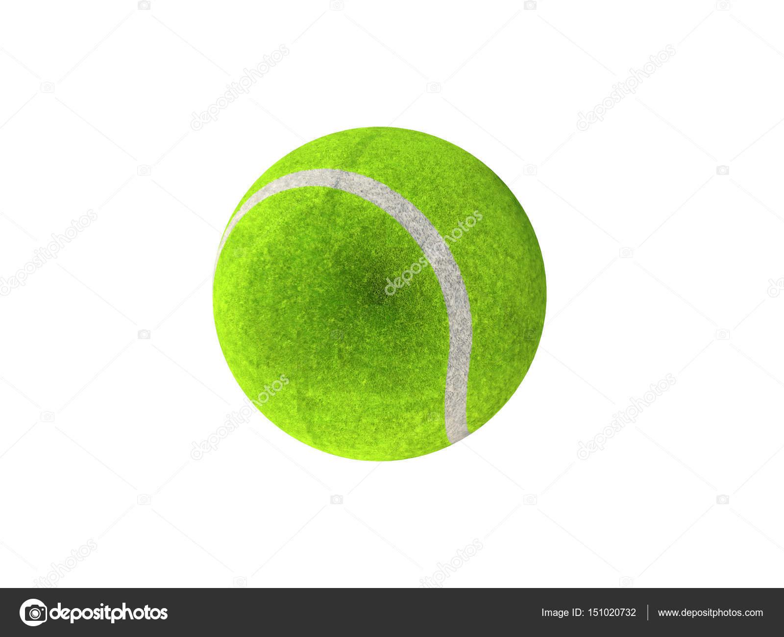 e28b683bf66a3 Rendu 3D de balle de tennis vert sur fond blanc — Photographie ...