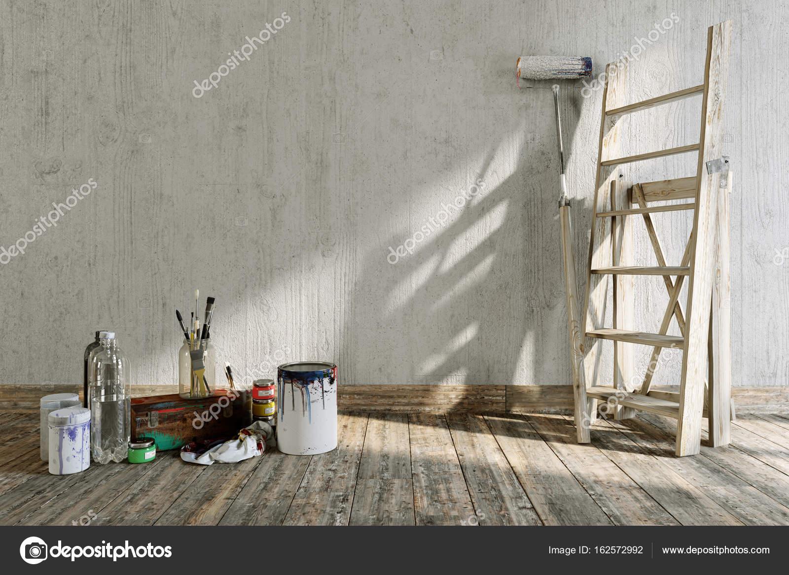 artistieke interieur concept samenstelling met plaats voor logo herstellen foto van denisgo