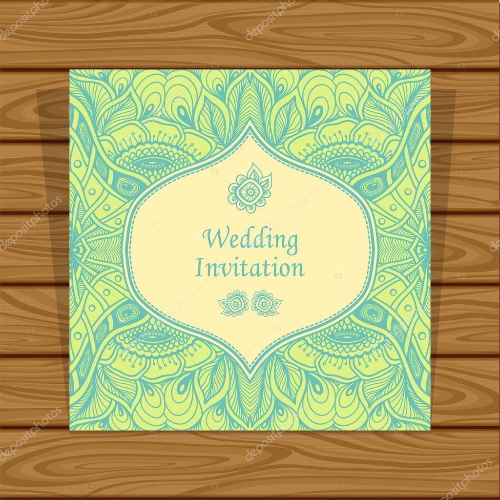 Convite de casamento com emaranhado de zen ou zen doodle flores em convite de casamento com emaranhado de zen ou zen doodle flores em verde bege vetores stopboris Image collections