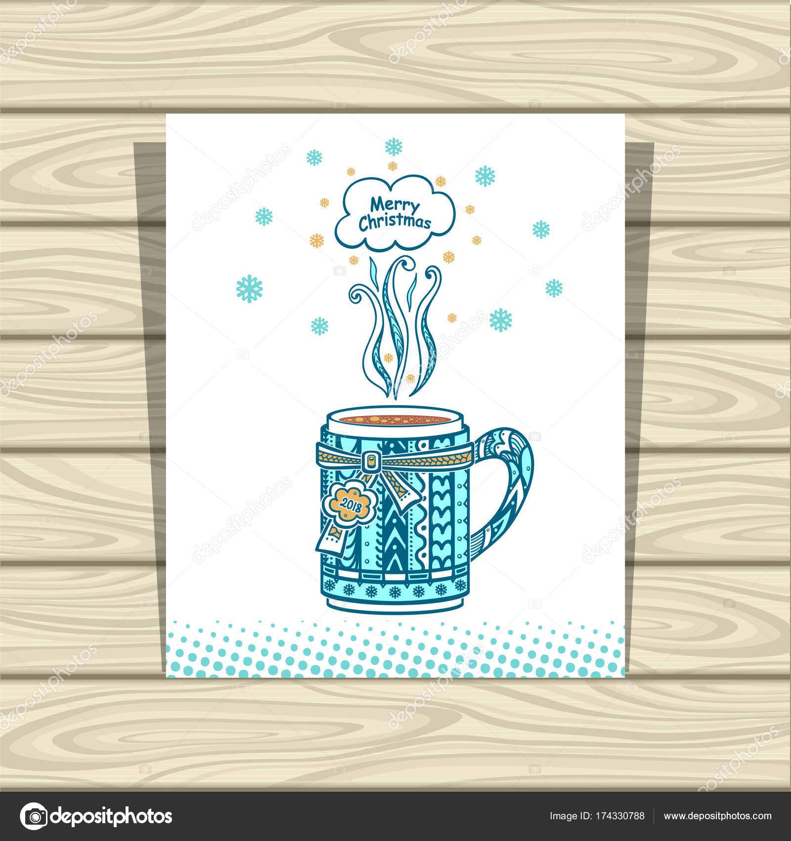 Vorlage Flyer Menü Heißgetränke Tee oder Kaffee in blauen und weißen ...