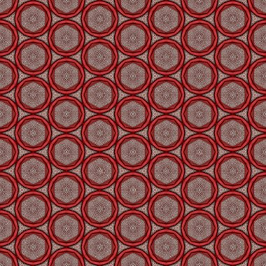 pattern red circles on a gray