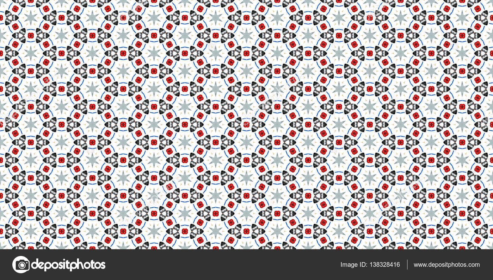 Textura sin fisuras con patrones abstractos rojos y negros — Foto de ...