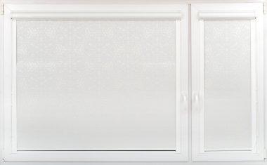 Cassette roller blinds on the windows.