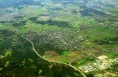 Fotografie Luftaufnahme von Germering in Bayern, Deutschland.