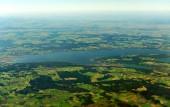 Fotografie Luftaufnahme der Ammersee in Oberbayern, Deutschland