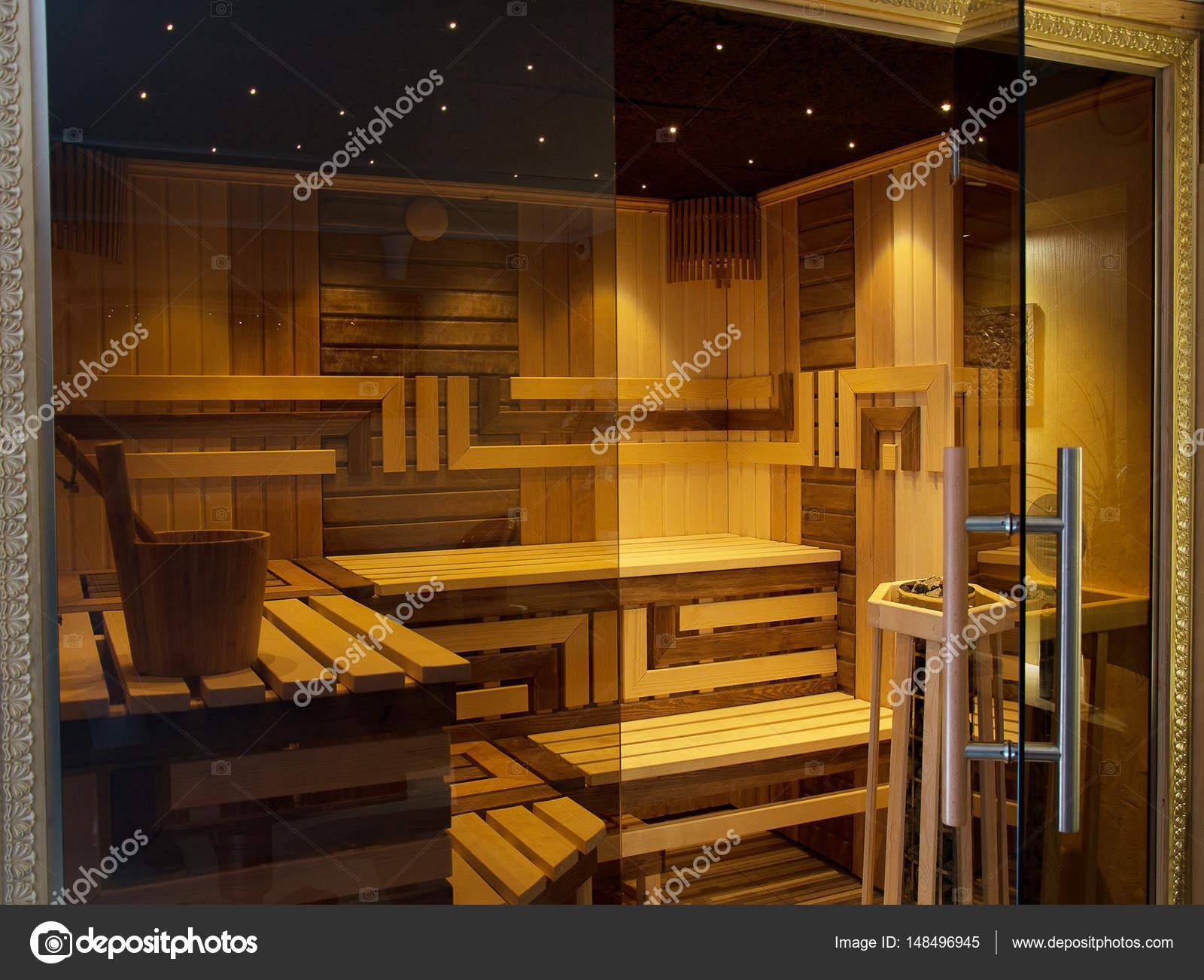 Interior of finnish sauna behind glass door stock photo interior of finnish sauna behind glass door stock photo planetlyrics Image collections