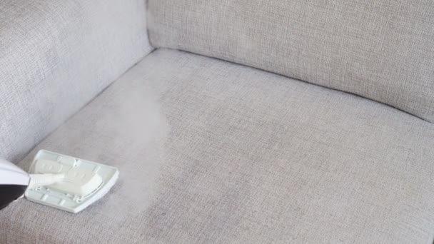 Tremendous Cleaning Fabric Of The Sofa With A Steam Cleaner Machost Co Dining Chair Design Ideas Machostcouk