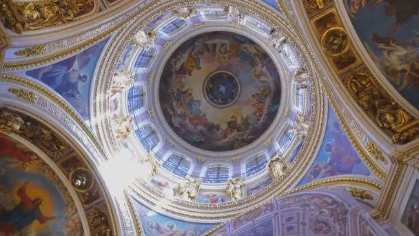 Sankt Petersburg, Rusko, 22.04.2018 - uvnitř katedrála svatého Izáka (Editorial)
