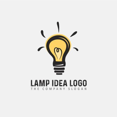 Light bulb logo design template