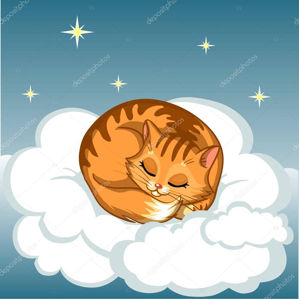 Спящие животные на облаках картинки