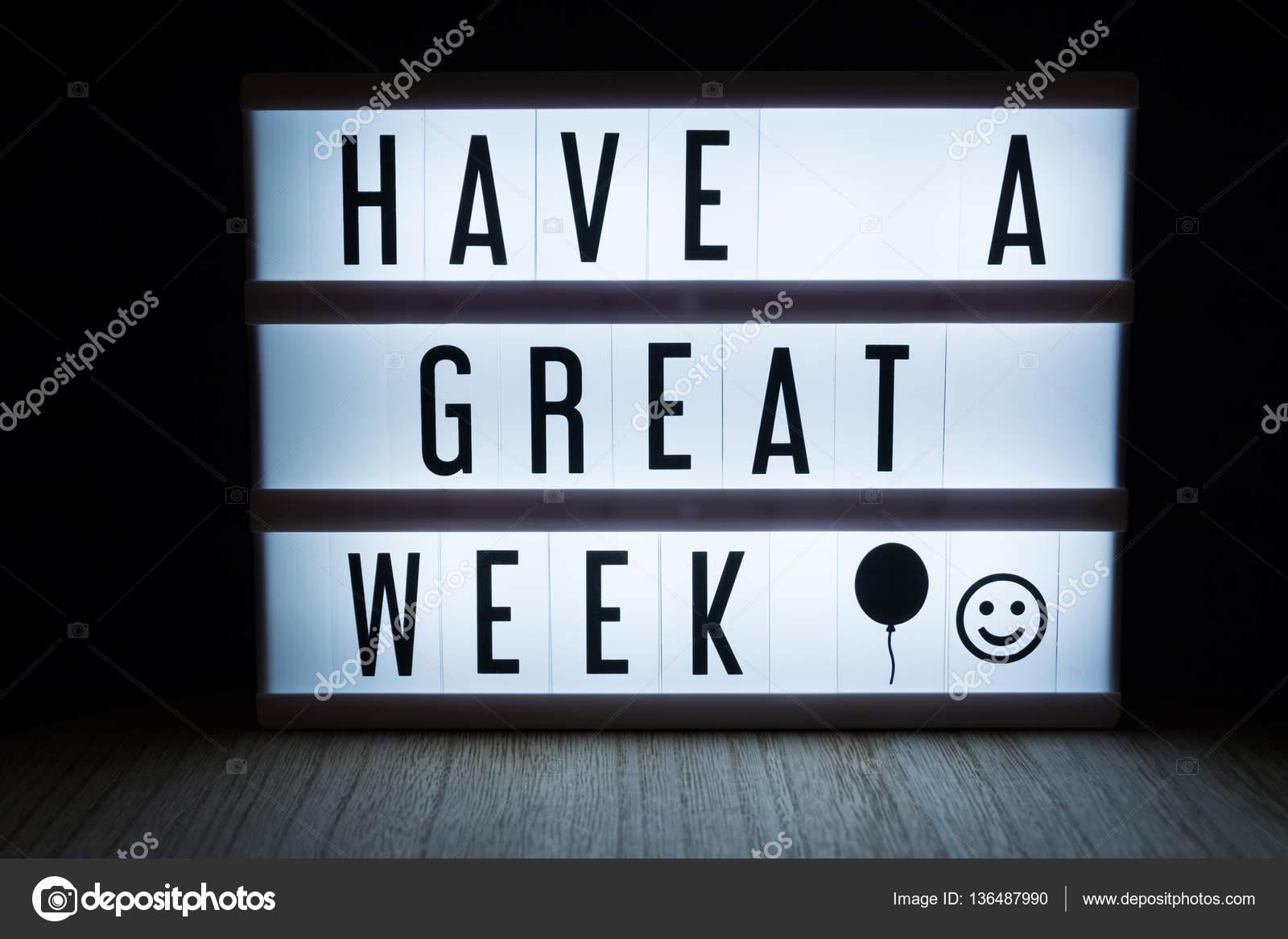 Have A Great Weekend Tekst In Lightbox Stockfoto Wvdz 136487990