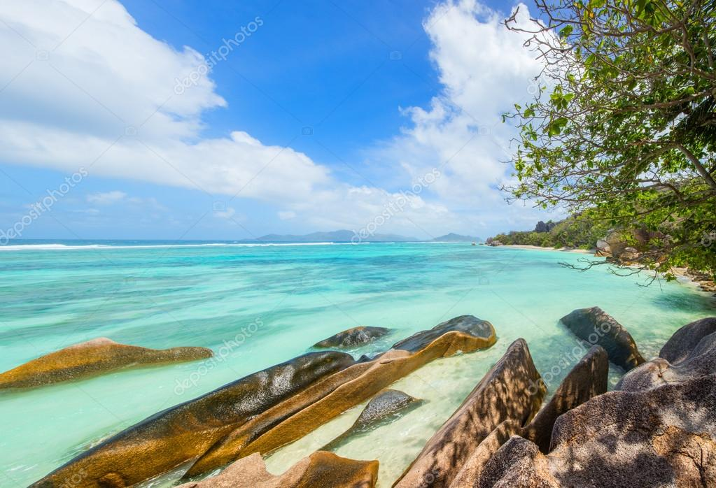 Beautiful Seychelles panorama