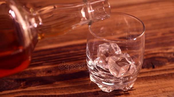 nalévání whisky do skla