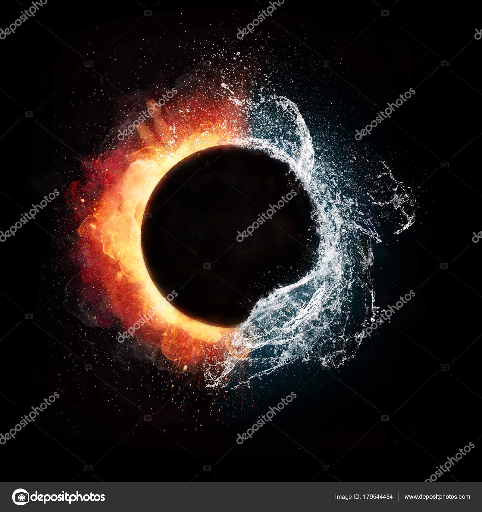 Fire and water elements in spherical shape stock photo jagcz fire and water elements in spherical shape stock photo biocorpaavc Choice Image