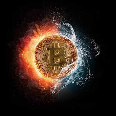 Su sıçramalarına, isol ile Bitcoin Kripto para birimi simgesini yazma