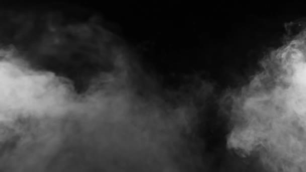 Slow motion of realistic smoke effect on black background