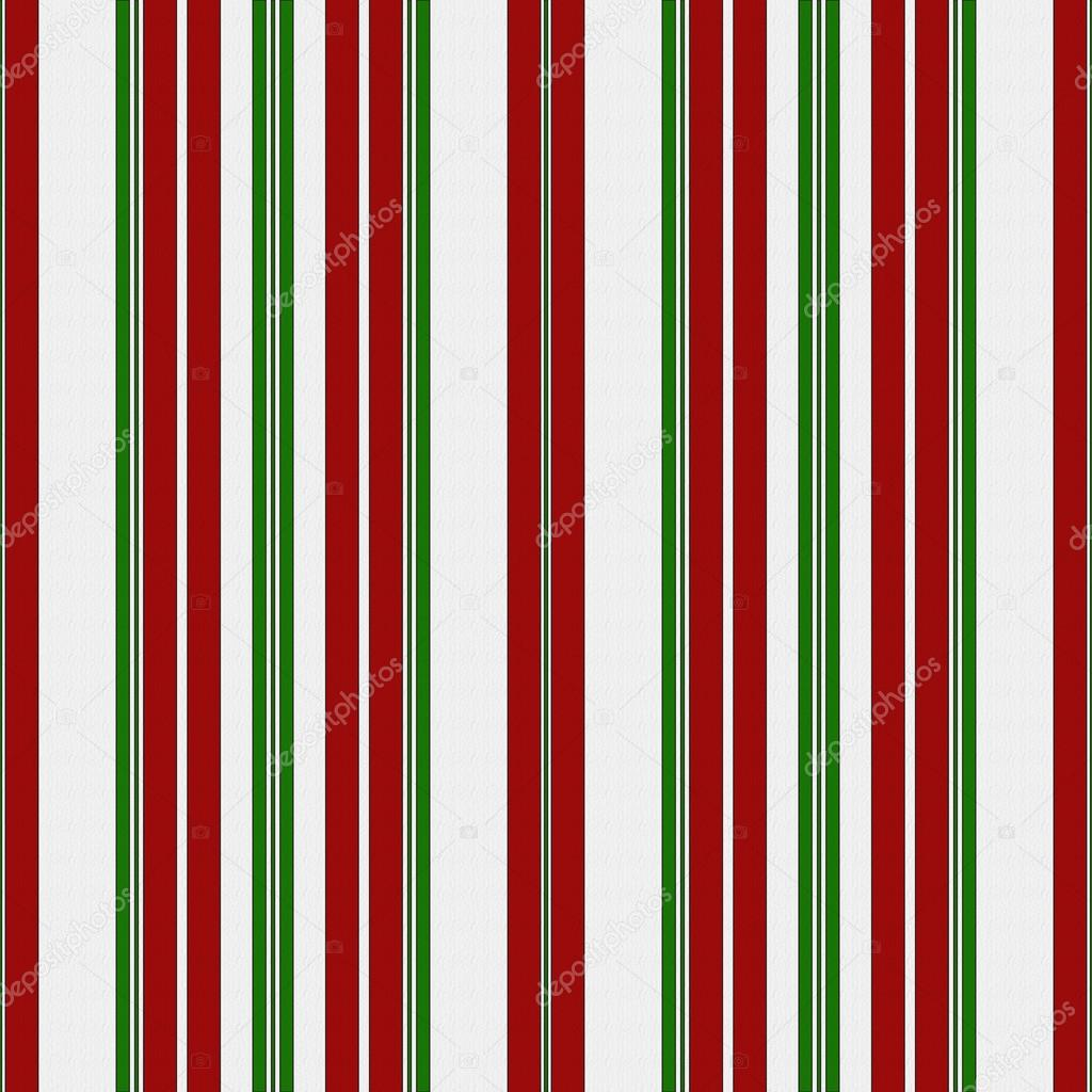 Red, Green and White Striped Fabric Background — Stock Photo ...