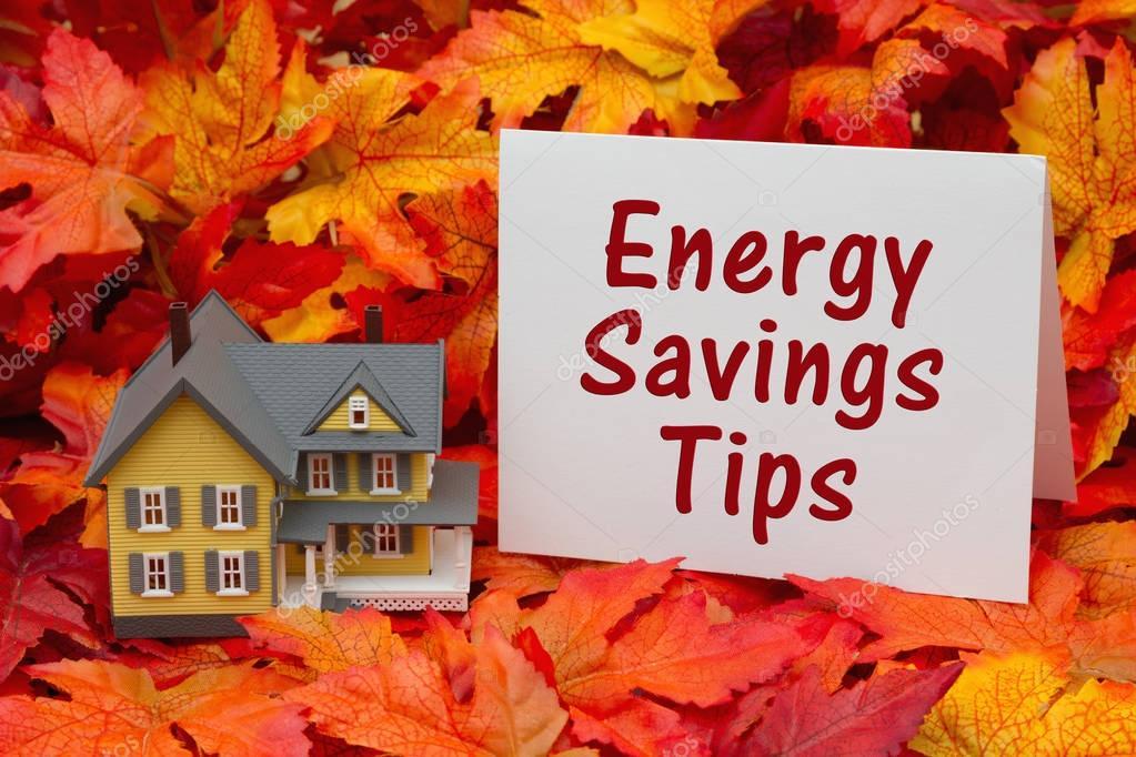 Energiebesparing Tips Huis : Huis energie besparing tips in de val seizoen u stockfoto karenr