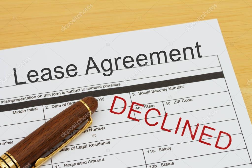 Applying For A Lease Agreement Declined Stock Photo Karenr