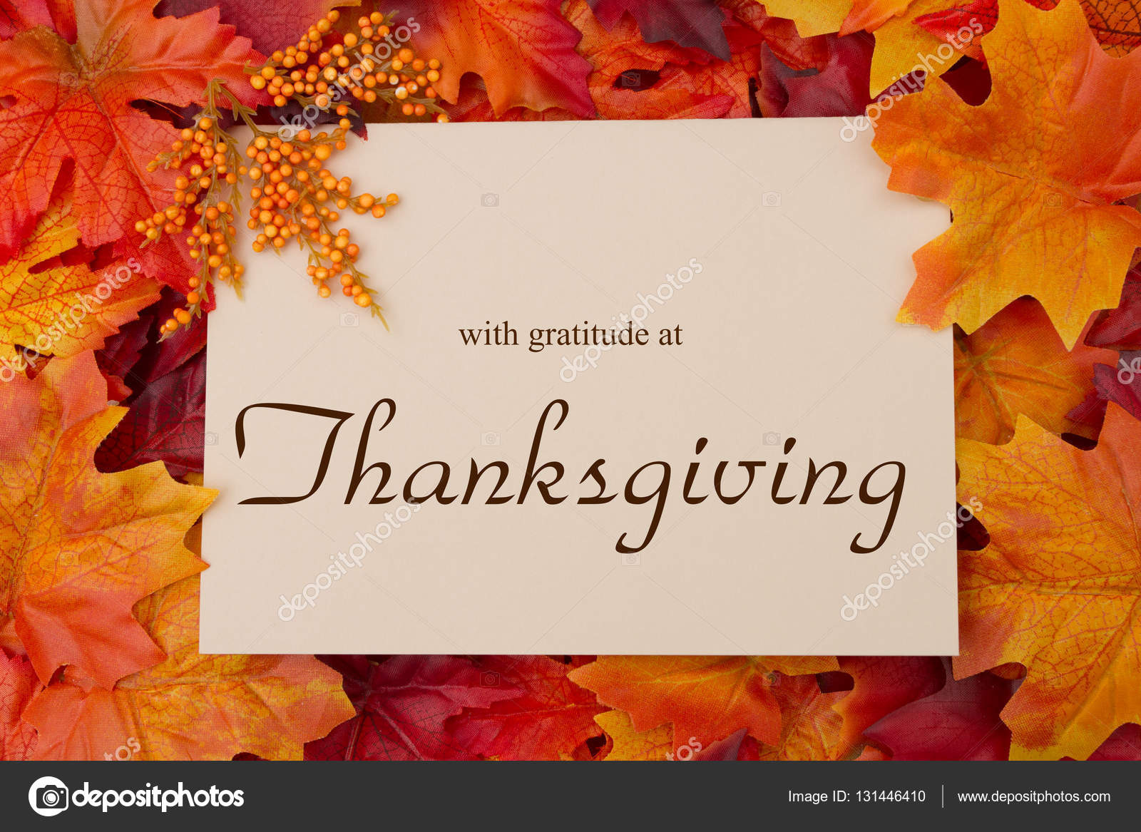 Happy Thanksgiving Message Stock Photo Karenr 131446410