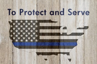 To protect and serve message