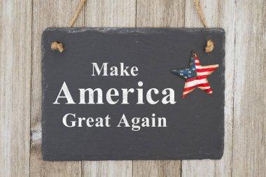A rustic patriotic American message