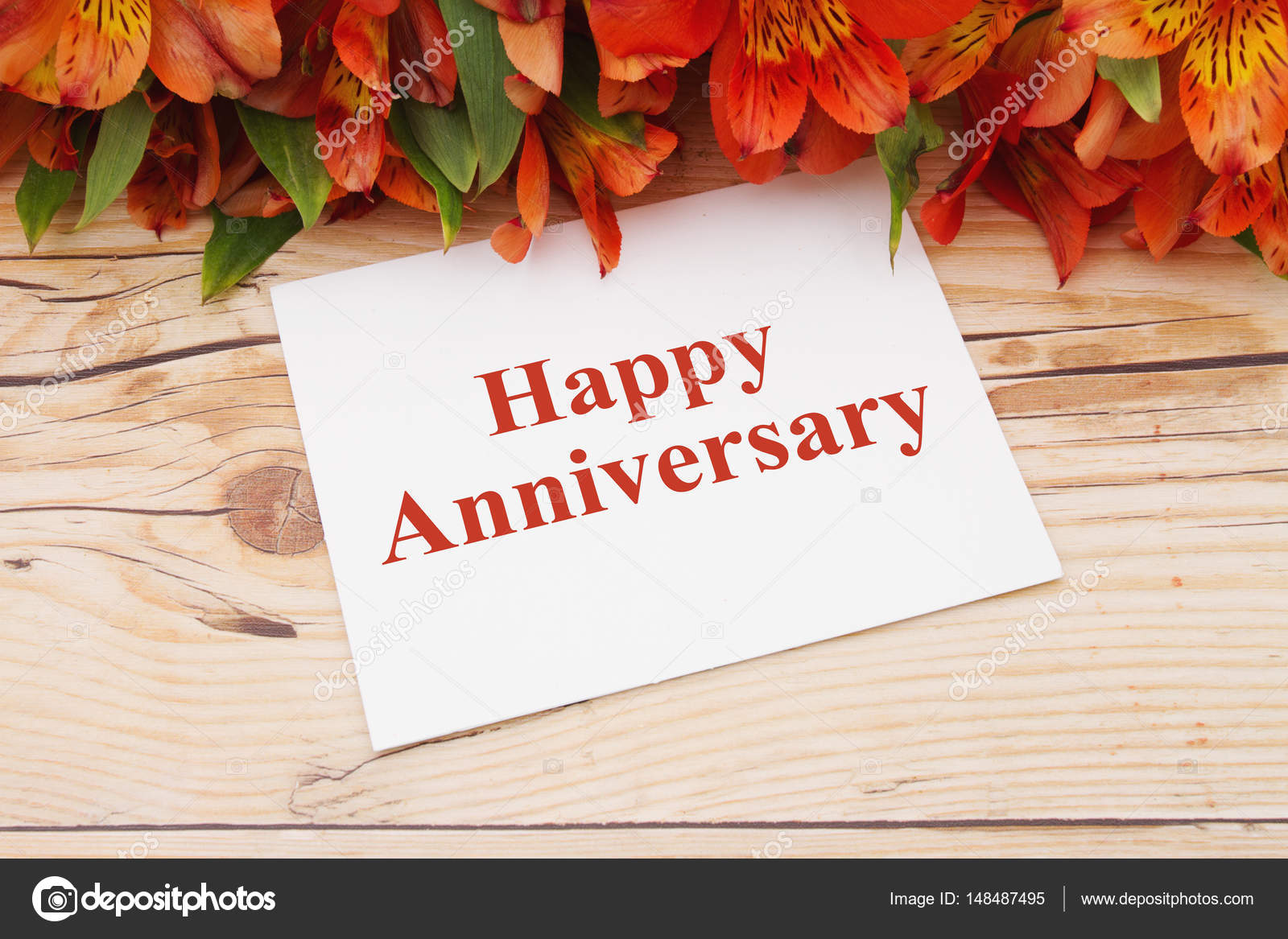 Happy Anniversary Greeting Stock Photo Karenr 148487495