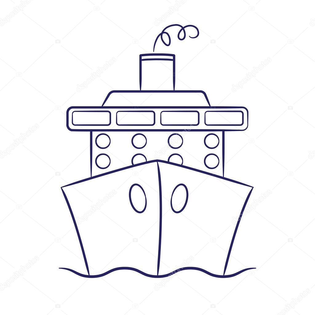 Crucero de mano alzada en formato vectorial — Archivo Imágenes ...