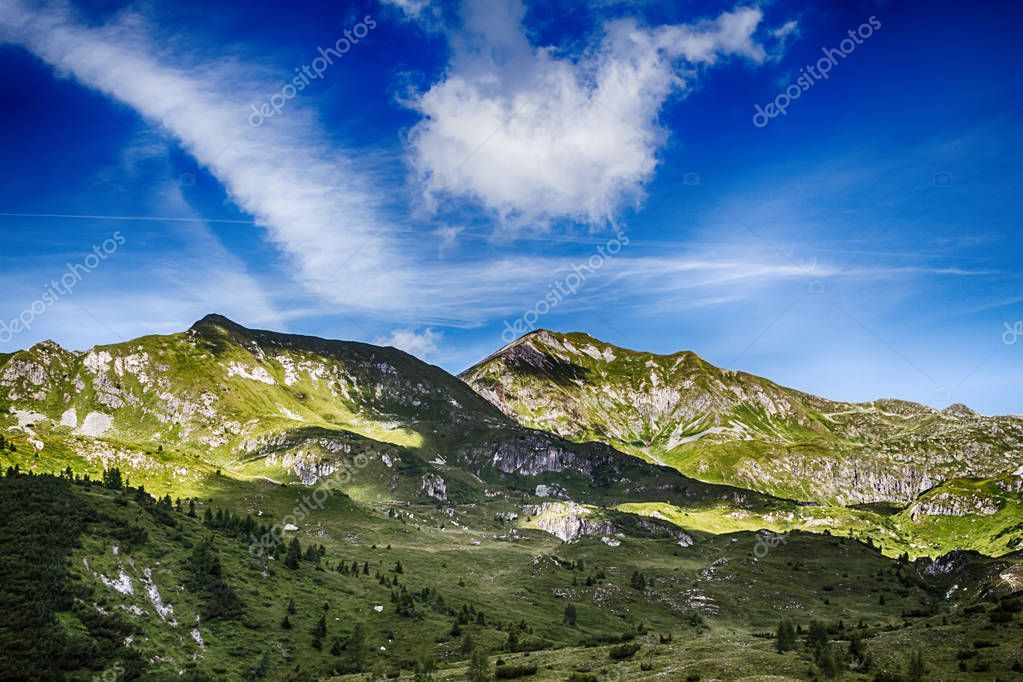 Beautyfull mountain landscape in Bagolino, Brescia
