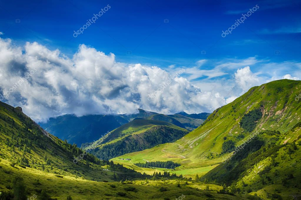 Mountain landscape between the hills of Bagolino