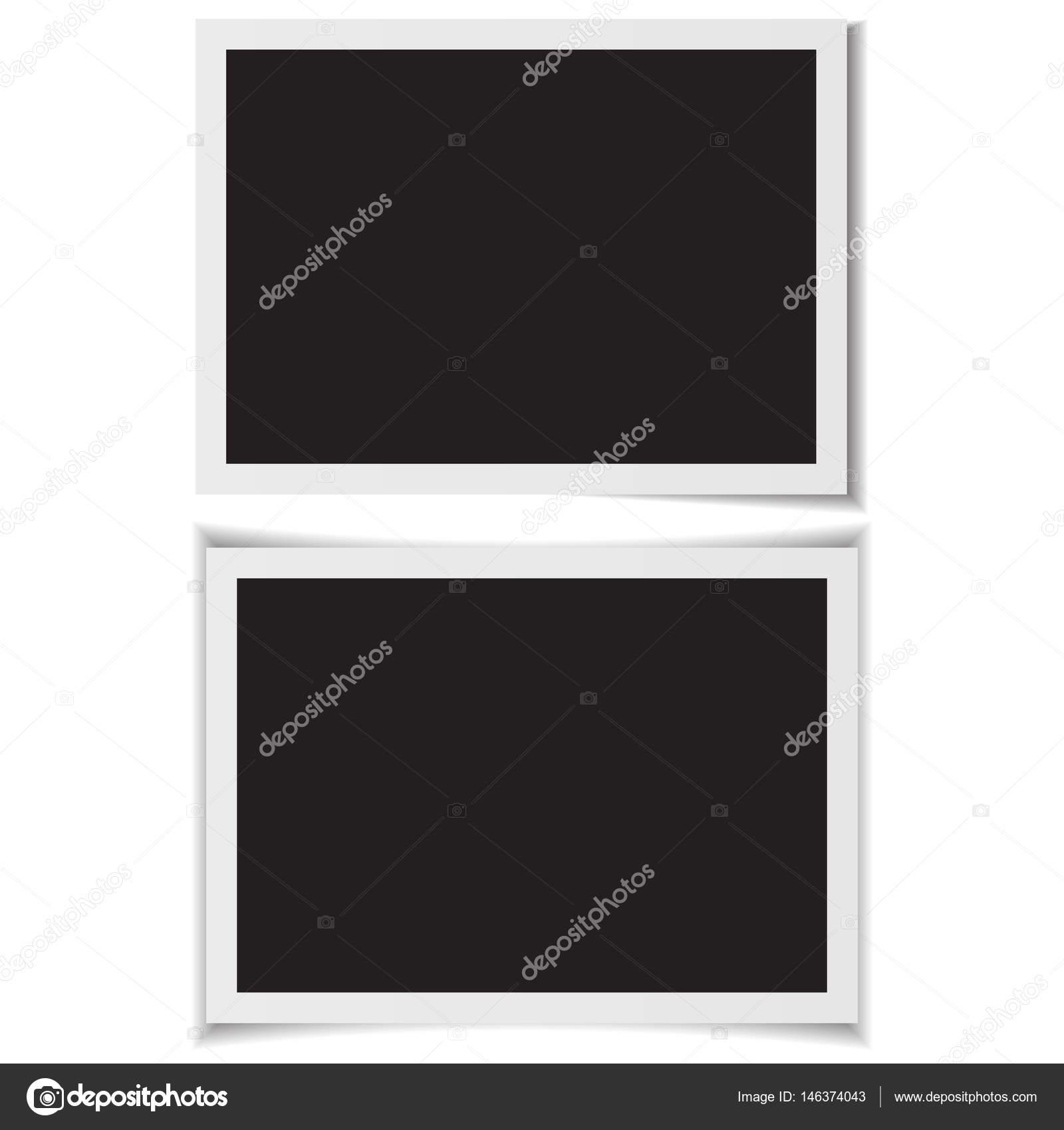 Leere Bilderrahmen mit Schatten auf zurück Vektor — Stockvektor ...