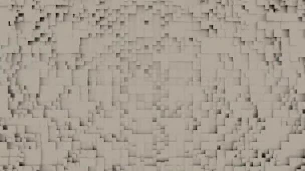 Abstrakter, sich dynamisch verändernder, geloopter geometrischer Hintergrund, 3D-Renderer