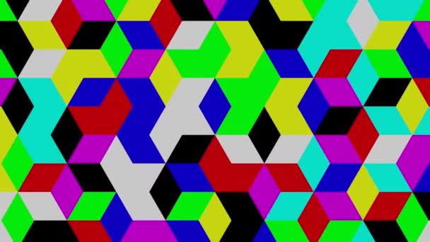 Abstract, dynamically changing, looped geometric background, 3d render